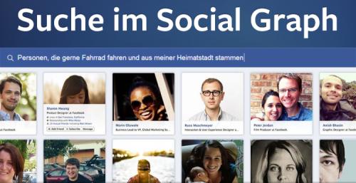 Facebook Suche im Social Graph