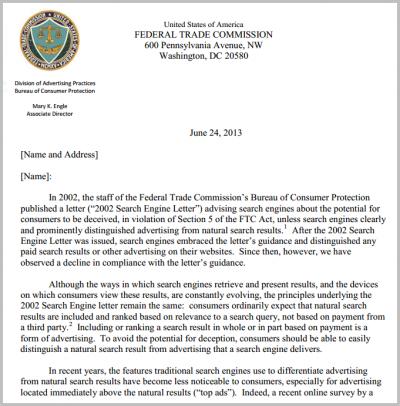 Schreiben der FTC