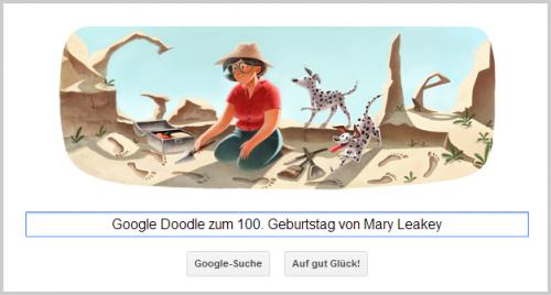 Google Doodle für Mary Leakey