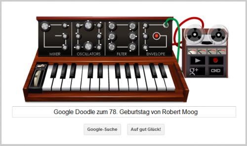 Google Doodle für Robert Moog