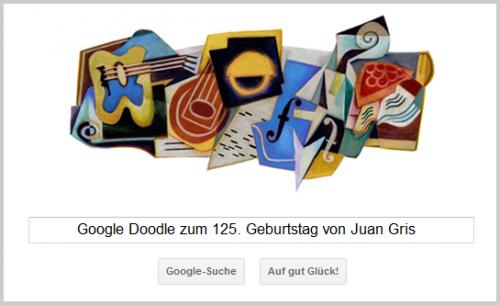 Google Doodle für Juan Gris