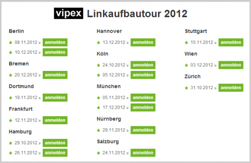 Linkaufbautour 2012 by VIPEX