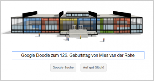 Google Doodle für Mies van der Rohe