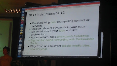 SEO instructions 2012