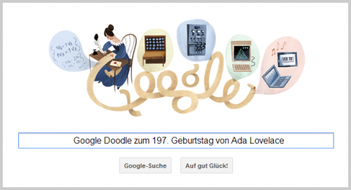 Google Doodle für Ada Lovelace