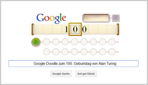 Google Doodle für Alan Turing