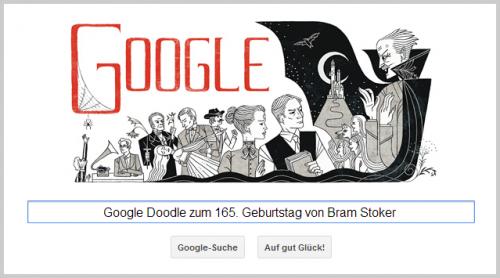 Google Doodle für Bram Stoker