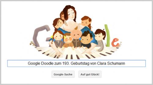Google Doodle für Clara Schumann