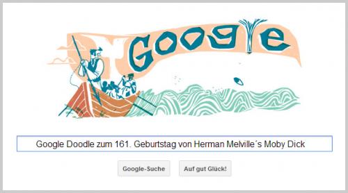 Google Doodle für Herman Melville