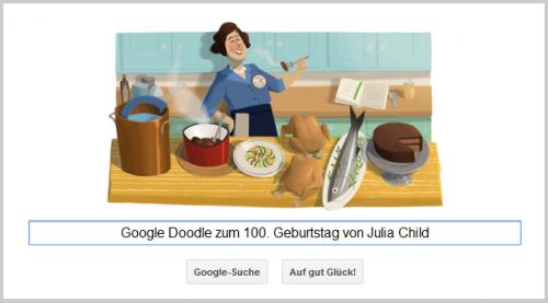 Google Doodle für Julia Child