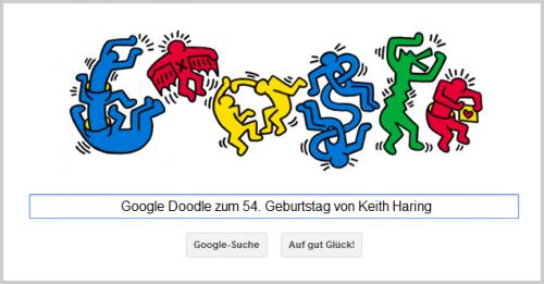 Google Doodle für Keith Haring