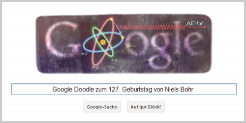 Google Doodle für Niels Bohr