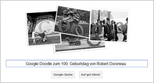 Google Doodle für Robert Doisneau