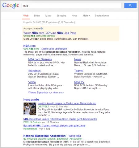Alte Ergebnisse bei der Suche nach NBA