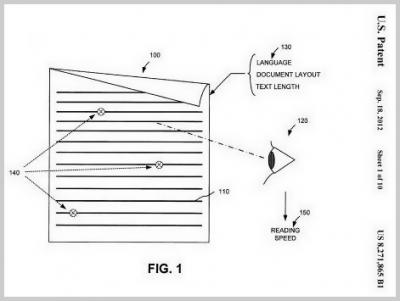 Googles Patent über Lesegeschwindigkeit