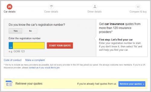 Google Versicherungsportal