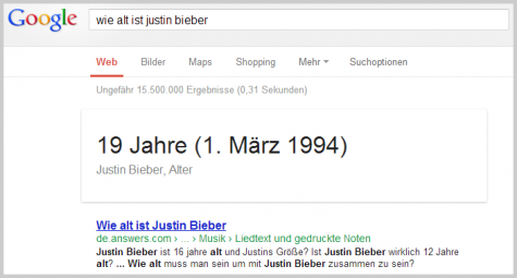 Wie alt ist Justin Bieber?