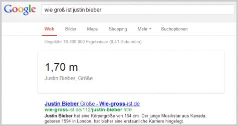 Wie groß ist Justin Bieber?