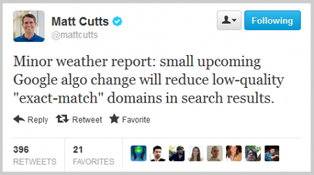 Matt Cutts bei Twitter