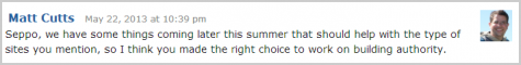 Matt Cutts zum Penguin Update