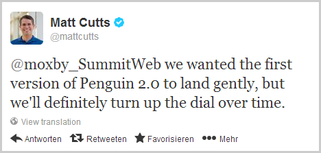 Matt Cutts zum Penguin Update
