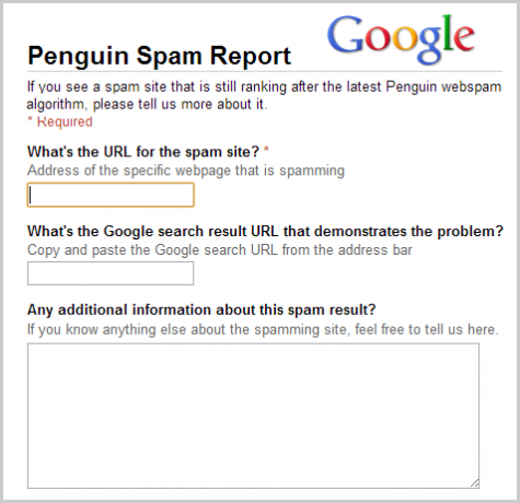 Penguin Spam Report