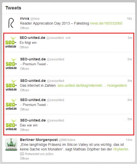 Beispiel Premium Tweet