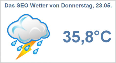 SEO Wetter am 23.05.2013