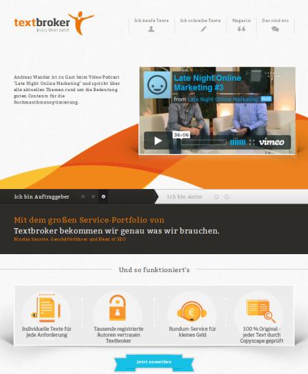 Textbroker - Startseite