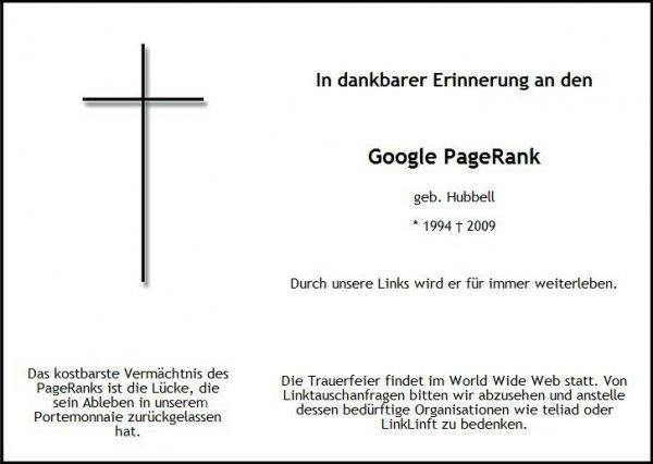 seo-united.de: Der Google PageRank ist tot (Klick führt zum Artikel)