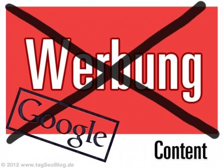 Google-Penalty bei zu viel Werbung