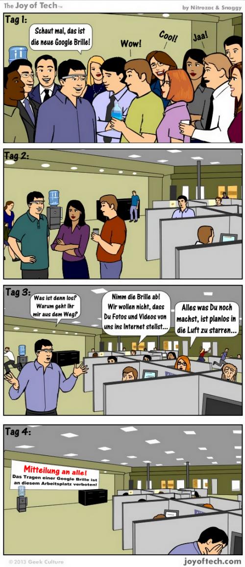 Verbot für Google-Brille