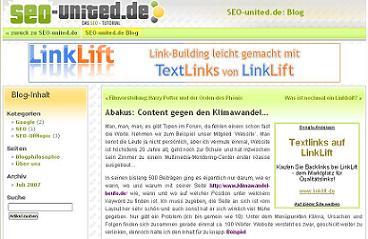 Adsense-Werbung für Linkkauf