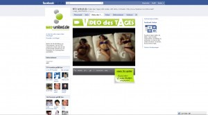 Facebook Anwendung im Seiten / Profiltab