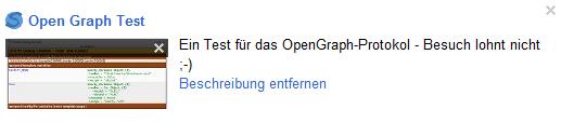 OpenGraph auf Google+