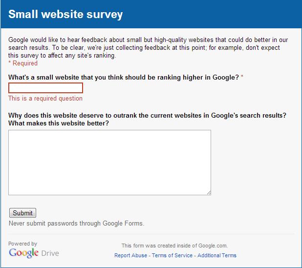 small_website_survey