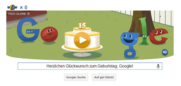 15. Geburtstag von Google