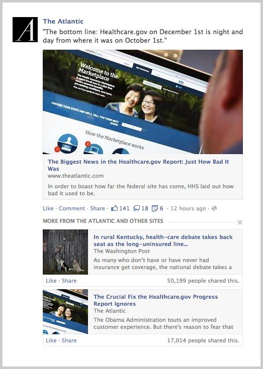 Related News bei Facebook