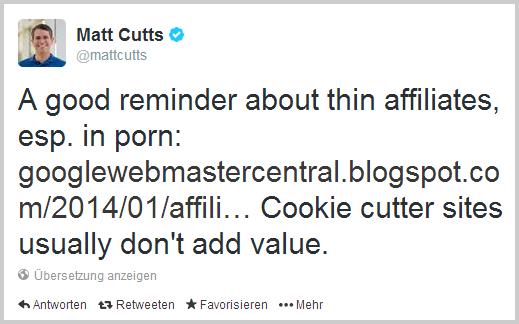 Matt Cutts auf Twitter