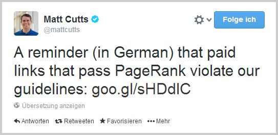 Matt Cutts über Linknetzwerke