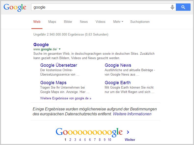 Google vs. EuGH
