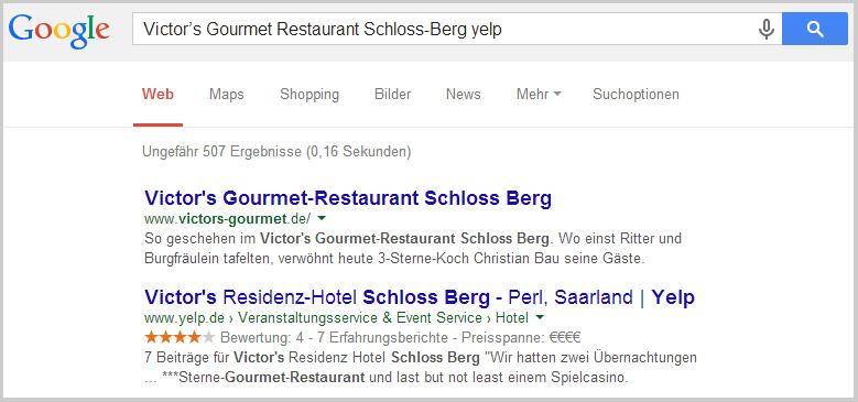 Yelp bei Google