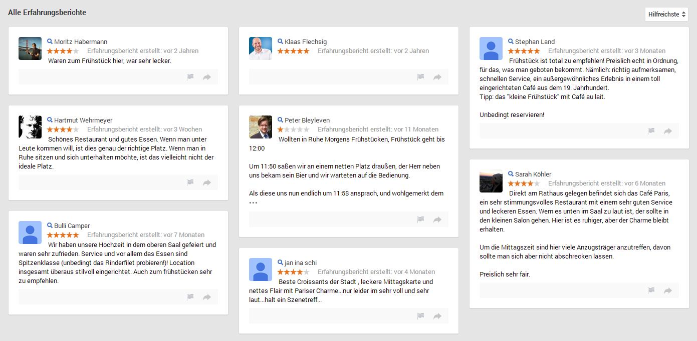 Beispiele fragwürdiger Userbewertungen