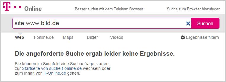 T-Online Suche