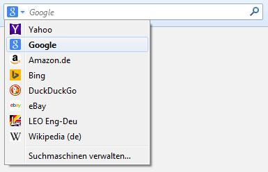 Firefox als Standardsuche festlegen
