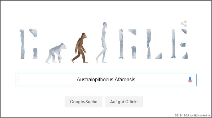 Australopithecus Afarensis Google Doodle