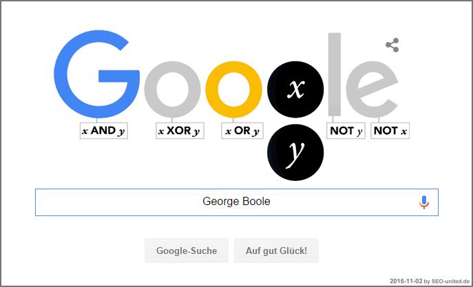 Google Doodle für George Boole