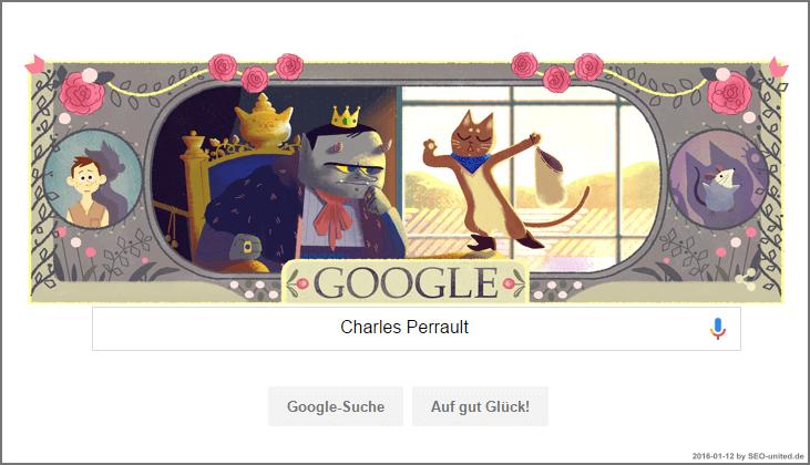 Charles Perrault Google Doodle