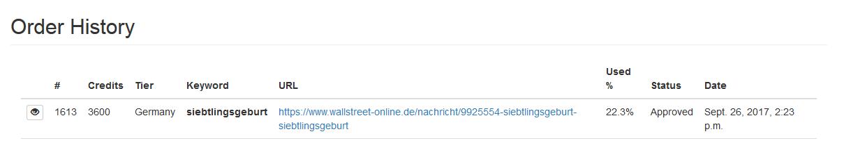 Von den geforderten 100 Klicks wurden täglich leider nur 10 umgesetzt.