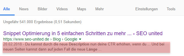 SEO Description Länge